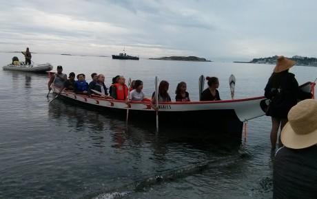 arriving in the canoe 4
