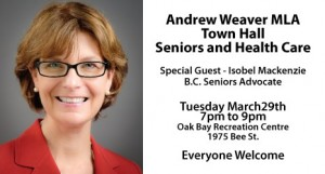 MLA Town Hall: Seniors and Health Care