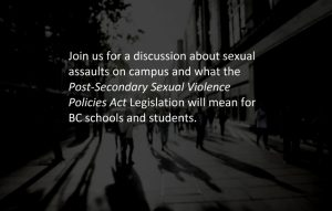 MLA Town Hall: Sexual Violence on BC Campuses