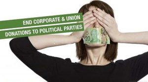 On corporate and union donations, and party leader stipends
