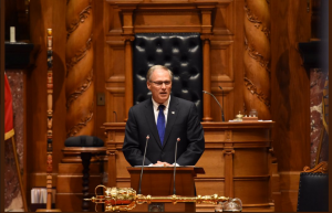 Washington Governor Jay Inslee addresses the BC Legislature